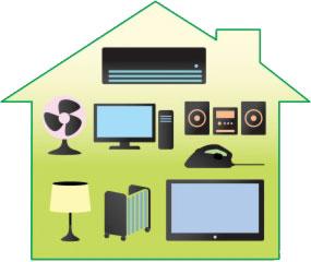 อุปกรณ์ไฟฟ้า - Electrical appliances in this house